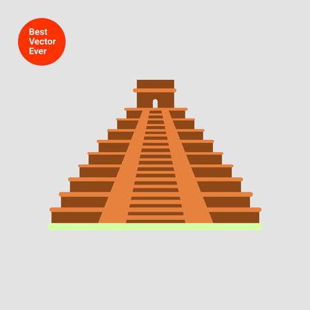 ancient civilization: Maya pyramid icon