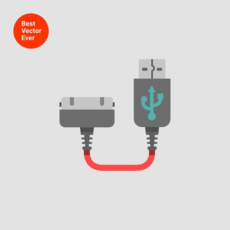 interconnect: Icon of smartphone charging plug Illustration