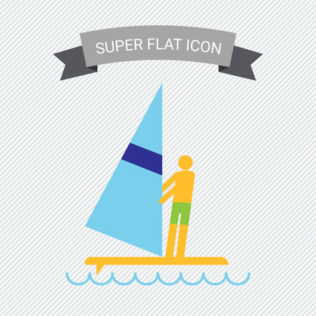 mans: Icon of mans silhouette standing on surfboard