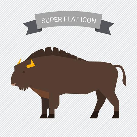 Wisent icon Illustration