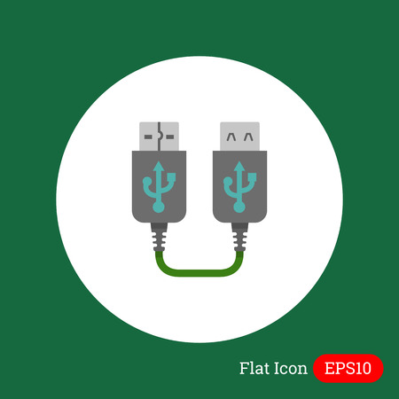 female connector: Icon of USB extender