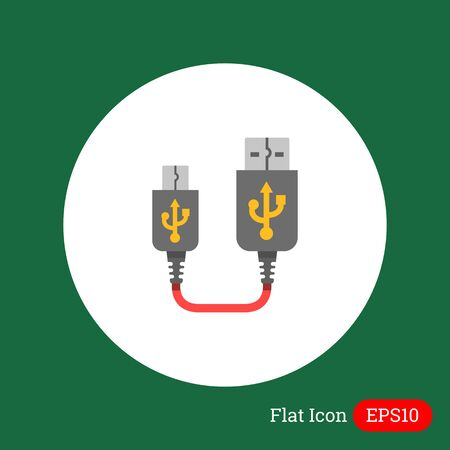 female connector: Icon of USB to mini USB cable