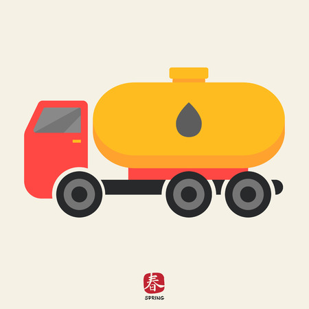 barco petrolero: Icono de cami�n cisterna