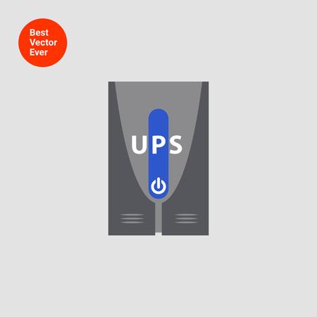 stabilizer: Icon of uninterruptible power supply Illustration