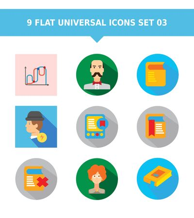 middle aged man: Set of vector icons with various concepts, isolated on white