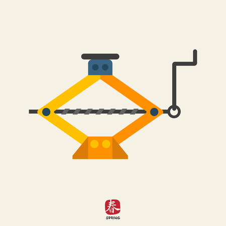 lifting jack: Screw jack icon