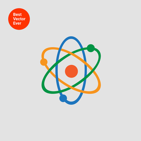 Atom model icon