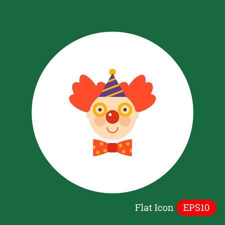 clowngesicht: Icon des l�chelnden Clown Gesicht Illustration