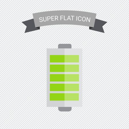 indication: Icon of battery with charge indication
