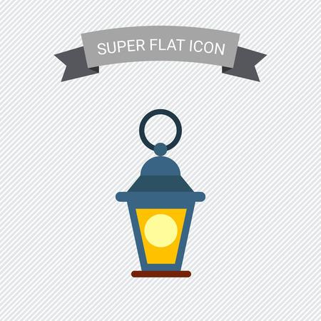 an oil lamp: Icono de la linterna decorativa