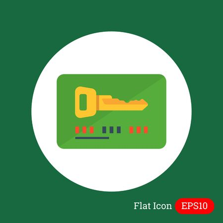 keycard: Icon of electronic keycard Illustration