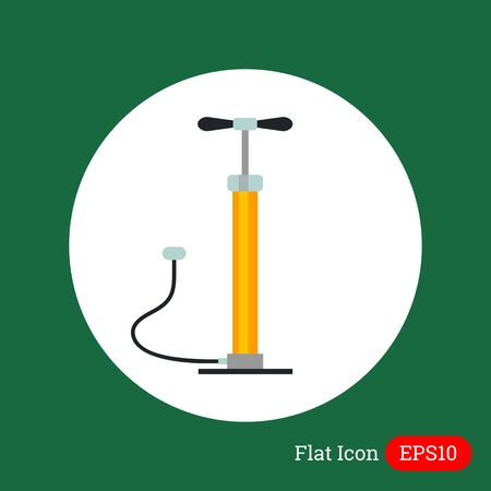 bicycle pump: Icon of hand air pump