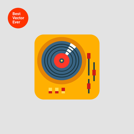 deejay: Icon of deejay vinyl record player
