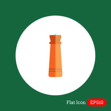 mill: Icon of wooden pepper mill Illustration