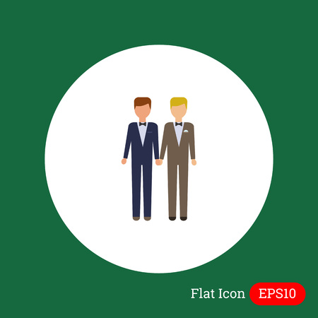 nontraditional: Icon of two bridegrooms Illustration