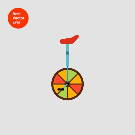 pedaling: Monocycle icon Illustration