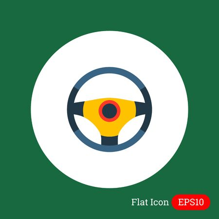 steering wheel: Steering wheel icon Illustration