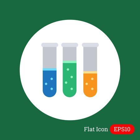 tubo de ensayo: Icono de tubos de ensayo con el l�quido burbujeante multicolor