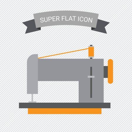 gray thread: Sewing machine icon