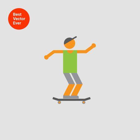 skater boy: Icon of teenage skater boy