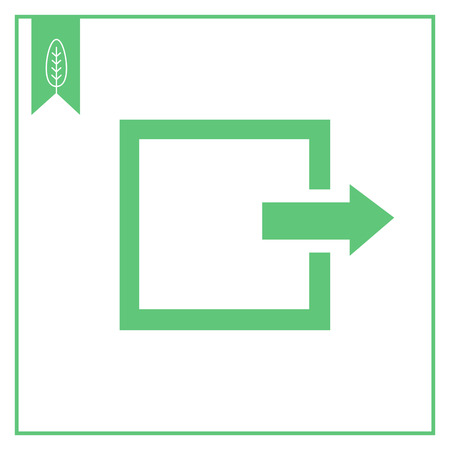 log out: Icon of exit or log out sign