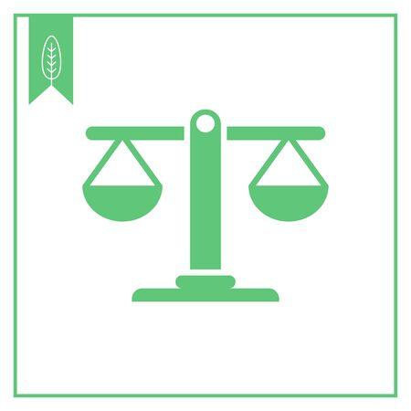 balanced: Icon of balanced scales Illustration