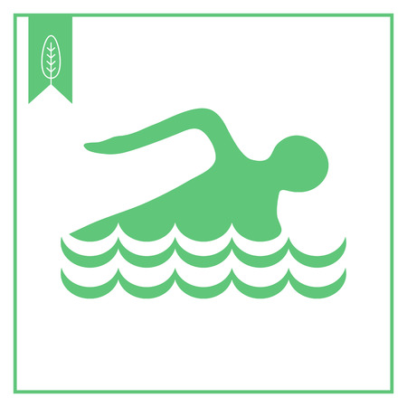 mans: Icon of swimming mans silhouette