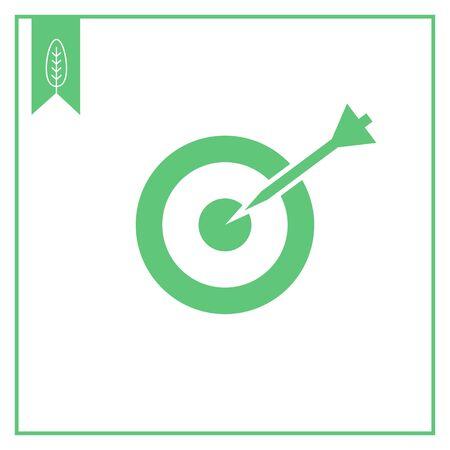 hitting: Icon of dart hitting target