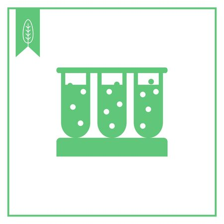 bubbling: Icon of test tubes filled with bubbling liquid Illustration