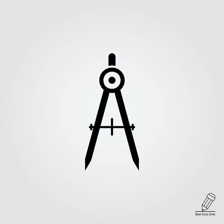 compasses: Drawing compasses icon