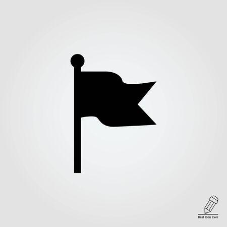 libbenő: Icon of fluttering flag Illusztráció