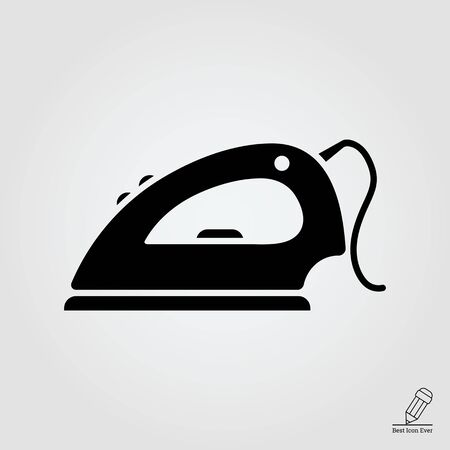cord: Icon of iron with cord Illustration