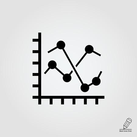 fluctuation: Line histogram icon