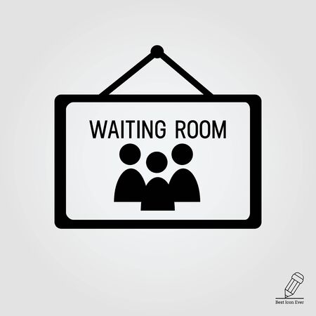 waiting room: Icon of waiting room sign Illustration