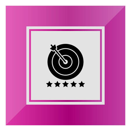 hit: Icon of target hit with arrow and five stars