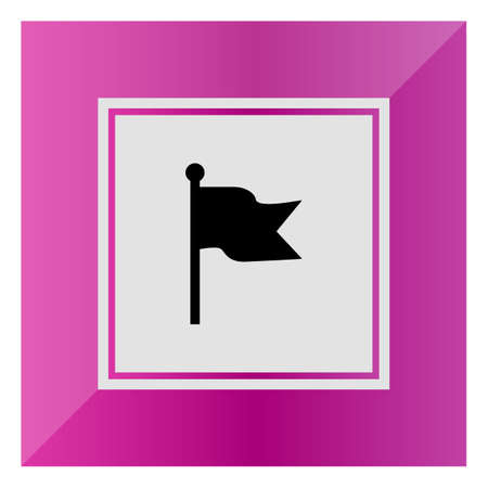 fluttering: Icon of fluttering flag Illustration