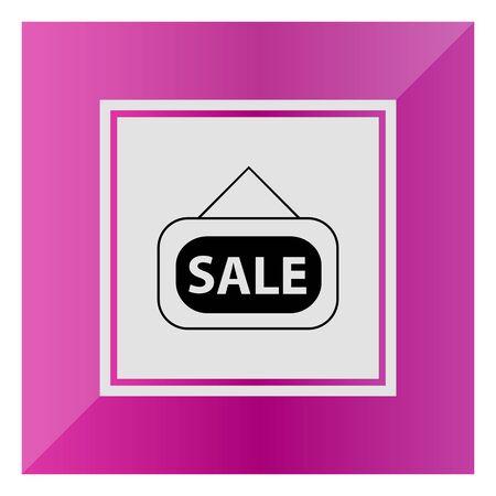 door sign: Icon of Sale door sign