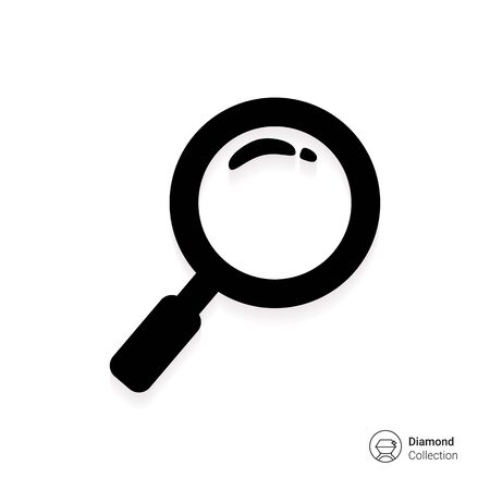 magnifying: Magnifying glass icon Illustration
