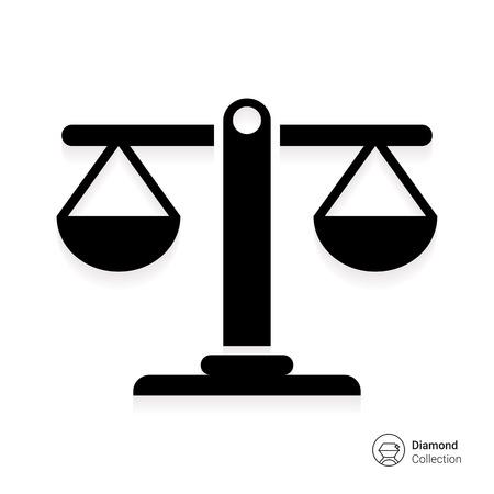 Icon of balanced scales Illustration