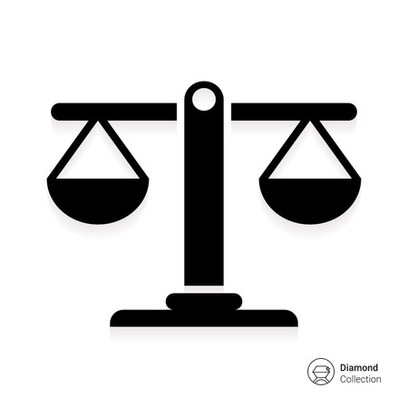 concepto equilibrio: Icono de escalas equilibradas