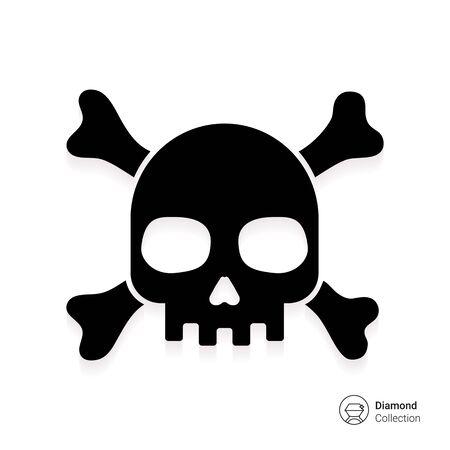 tete de mort: Icône de crâne et des os