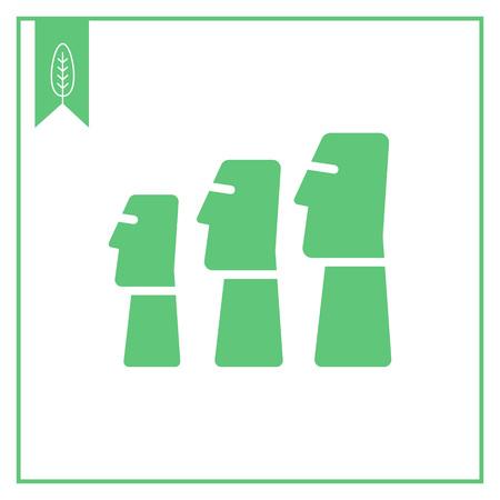 moai: Icono de estatuas Moai de Isla de Pascua Vectores