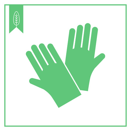 rubber glove: Icon of protective rubber gloves