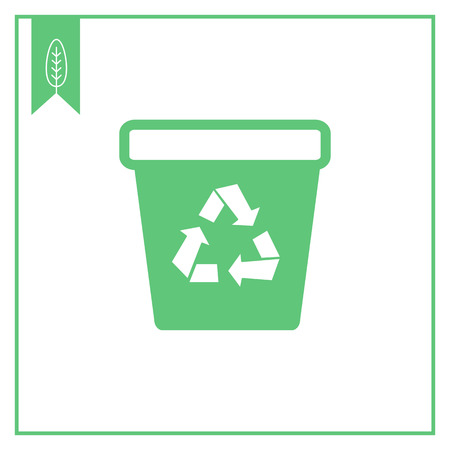 utilization: Icon of tank with recycling sign