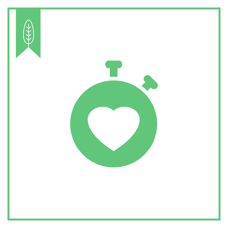 heart rate: Icon of heart rate monitor