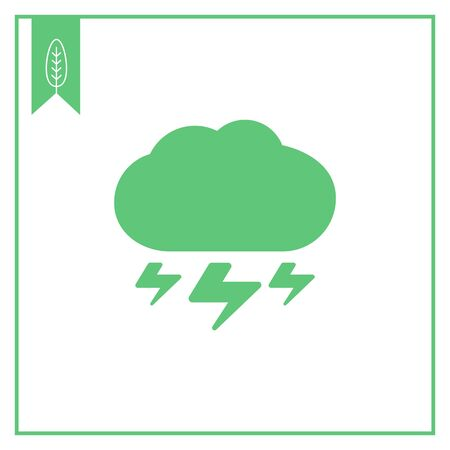 downfall: Icon of cloud with lightning