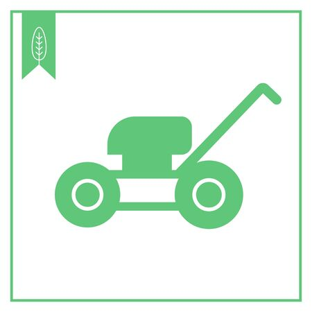 lawn: Lawn mower icon Illustration