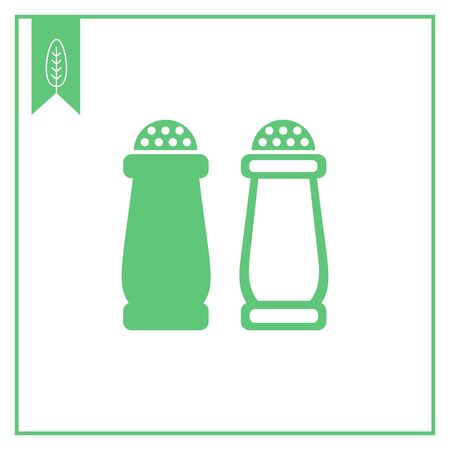 shakers: Icon of salt and pepper shakers
