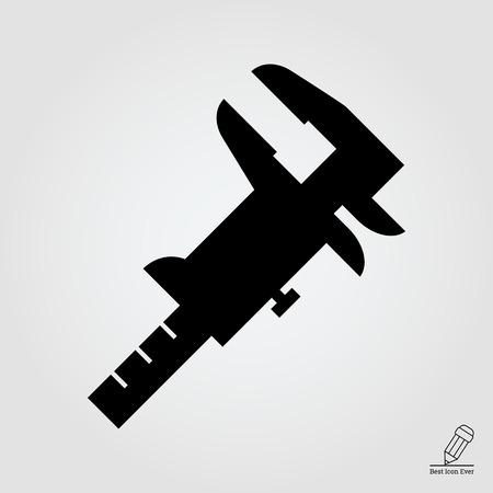 caliper: Caliper icon Illustration