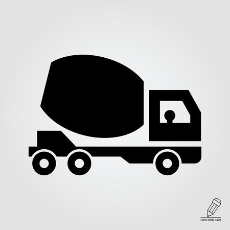 concrete mixer: Icon of concrete mixer truck